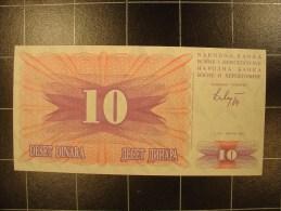 Bosnie-herzegovine 10 Dinara 1992 P10 Neuf - Bosnia Y Herzegovina