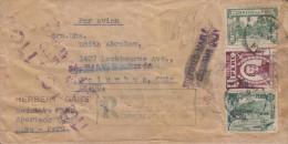 G)1948 PERU, HISTORIC FIG TREE-TORIBIO DE LUZURIAGA-VIEW OF TARMA, AIRMAIL REGISTERED COVER TO OHIO, USA, XF - Peru