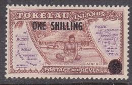 TOKELAU, 1956  1/- O/PRINT MH - Tokelau