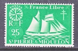 ST. PIERRE & MIQUELON  302       *   SAIL  BOAT - St.Pierre & Miquelon