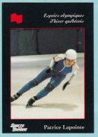 Olympics Teams -  Patrice Lapointe, Banque National (OG1028) - Trading Cards
