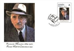 Spain 2015 - Nobel Prize 1952 - Literature - François Mauriac/France Tu Sello FDC - First Day Cover - Prix Nobel