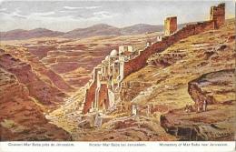 Couvent Mar Saba Près De Jérusalem - Illustration Signée F. Perlberg - Carte Non Circulée - Israel