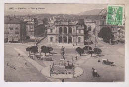 CPA GENEVE, PLACE NEUVE En 1909!! - GE Genève