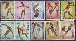 BURUNDI   - OLYMPIC TOKIO SET  - SWIMING - ATHLETICS - JUMPING - 1964 - **MNH