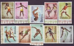 BURUNDI   - OLYMPIC TOKIO SET  IMPERF  - SWIMING - ATHLETICS - JUMPING - 1964 - **MNH