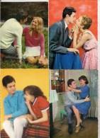 Lot De 8 CPSM Glacée Fantaisie - Thèmes Couples   -   Les Amoureux Vers Les Années 1950-60 - Coppie