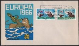 FG178      1966 - EUROPA CEPT SPAGNA - ESPANA - FDC - FDC