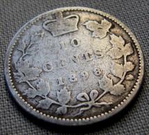 CANADA 1898 - 10 CENTS - SILVER - Canada