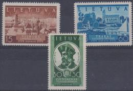 LITHUANIA - 1940 Return of Vilnius. Scott 314-316. MNH **
