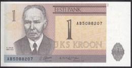 Estonia  1 Kroon 1992 P71 UNC - Estonia
