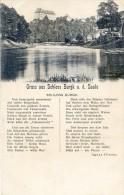Gruss Aus Scloss Burgk A. D. Saale - Poeme De Agnes Flinzer - Deutschland
