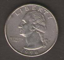 STATI UNITI QUARTER DOLLAR 1996 - Emissioni Federali