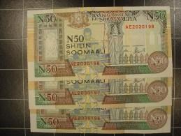 Somalie 3 X 50 Shillings 1991 PR2 Suivi  Neuf - Somalia