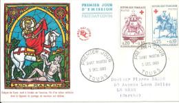 Tours 03 12 1960 Croix Rouge - FDC