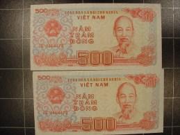 Viet-nam 2 X 500 Dong 1988 P101 Suivi  Neuf - Viêt-Nam