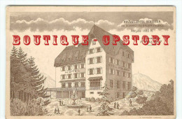 68 - BALLON D'ALSACE < PUBLICITE HOTEL STAUFFER En 1907 - CARTE PUBLICITAIRE Pour OUVERTURE 1er MAI - DOS SCANNE - Autres Communes
