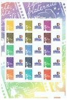Feuillet De 15 Mariannes Du 14 Juillet Personnalisés N° F3688B Neufs** Logo Timbres Personnalisés - France