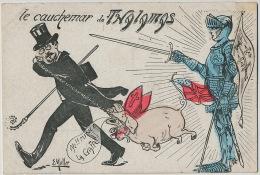 Satirique par E. Muller Le Cauchemar de Thalamas Action Fran�aise Camelots du Roi Cochon de St Antoine Jeanne Arc