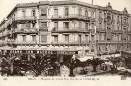 C5343 Cpa ALgérie  - Oran, Magasin Du Grand Bon Marché Et L'Hôtel Royal - Oran