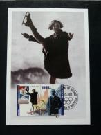 Republic De Guinee Olympics Sonja Henie 1928 On Kind Of Maximcard Or Memorycard 2001 - Winter 1928: St-Moritz