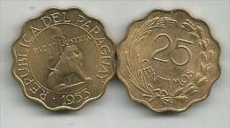 Paraguay 25 Centimos 1953. - Paraguay