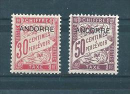 Timbres Taxe D´andorre De 1931/32  N°3 Et 4  Neufs  Charnière - Segnatasse