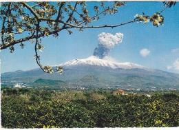 AA302 - Sicilia Catania - Esplosione dell�Etna del 7 aprile 1964 - f.g. viaggiata