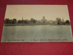 LIEGE  - Exposition Universelle 1905 -   La Meuse Et Entrée Des Halls à L´Exposition  -  1909   -  (2 Scans) - Liege