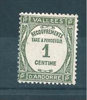 Timbres Taxe D´andorre De 1935  N°16  Neuf *  Petite  Charnière - Portomarken