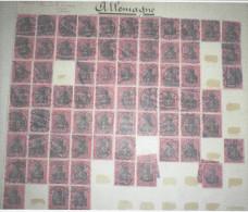 N°91 80pf Rouge Et Noir/rose Filigrane A Losanges Env 70ex Pour Nuances Ou Variétés ?? - Allemagne