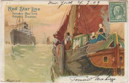 25936g H. CASSIERS - Red Star Line - Bateau -  New York 1909 - Illustrateurs & Photographes
