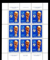 YUGOSLAVIA / JUGOSLAVIA * COMPLETE SHEET 9v 1974 FOOTBALL WOLRD CUP SOCCER * MNH - Blokken & Velletjes