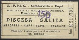 Italy,  Anacapri- Capri,  Capri- Anacapri,  Bus,   '50s.-'60s.