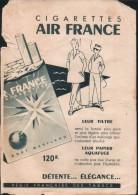 """Publicité"""" Cigarettes Air France""""( Pub Issue D'une Revue Ancienne) - Publicités"""