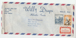 1965 Air Mail COLOMBIA  COVER Willy Drapes Philatelic Trader To SOUTH AFRICA, Stamps - Colombia