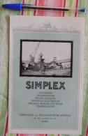 Publicité Pour La Compagnie Des Transporteurs Simplex  – Années 30 - Tapis Roulants - France