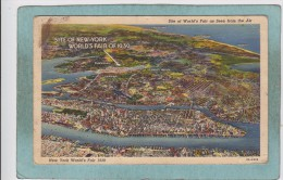 SITE  OF  NEW  YORK  WORLD ' S  FAIR  OF  1939  -  FROM  THE  AIR - Expositions