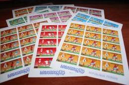 Soccer Football World Cup 1974 Khmer Complete Sheets Imperf !!! - Coppa Del Mondo