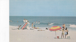 Surfing Scene , TOMS RIVER , New Jersey , 50-60s ; Life Guard Station At Surf Area - Toms River