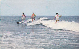 Surfing Scene , TOMS RIVER , New Jersey , 50-60s ; 3 People Surfing - Toms River