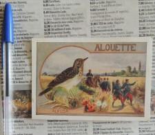 Lot De 2 Bons Points / Chromos : Alouette Et Martin-pêcheur - Cromos