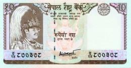 NEPAL TEN RUPEES BANKNOTE KING BIRENDRA 2001 PICK-31d UNC - Nepal