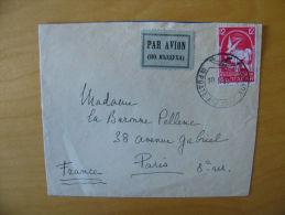 Airmail Par Avion Cover Bulgaria Bulgarien Pigeon Taube Sofia To Paris 1939 - Bulgarije