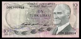 Turkey 10 Lira 1966 Serial Prefix C VF- - Turkey