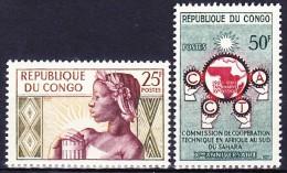 CONGO 1959-60 YT N° 135 Et 136 ** - Congo - Brazzaville