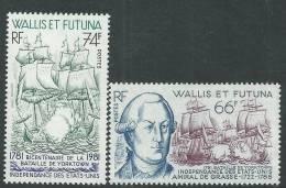 Wallis Et Futuna N° 277 / 78  XX   Bicentenaire De La Bataille De Yorktown La Paire Sans  Charnière, TB - Unclassified