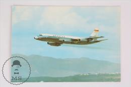 Airship Topic Postcard - Spanish Airlines Spantax - Cpnvair CV 990 A  Coronado - Aeronaves