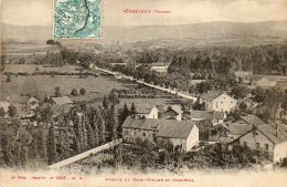 CPA - CORCIEUX (88) - Vue De L'avenue Du Rein-Meline Et Gerbépal Au Début Du Siècle - Corcieux