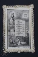 Antique Paper Lace Holy Card - Vierge Marie - Edited By L. Turgis Et Fils, Paris - Imágenes Religiosas